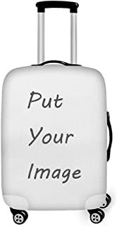 Personalized Luggage Cover Spandex Suitcase Protector Washable Travel Baggage Covers (M (22''-24'') cover, Z-Customize)