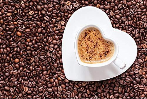 SiJOO Coffee Heart Wood Puzzle, 1000 Piezas, Versión Vertic