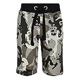 A2Z 4 Kids® Enfants Shorts Filles Garçons Designer Camouflage Imprimer - A2Z Camo Shorts Charcoal 11-12