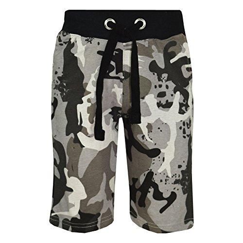 A2Z 4 Kinder Kinder Shorts Kurze Hose Mädchen Jungen TarnungAufdruck Baumwolle Chino Shorts Kurze Hose - A2Z Camo Shorts Kurze Hose Charcoal - 13 Jahre