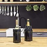 Vacu Vin 3887360 Coffret avec 2 Refroidisseurs 1 à Vin et 1 à Champagne Décor Classic