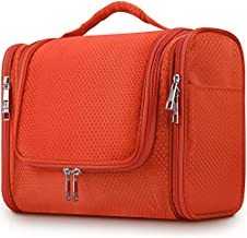 Toiletry Kit,Mossio Travel Size Hygiene Bag Bathroom Shower Organizer with Elastic Band Holder Orange