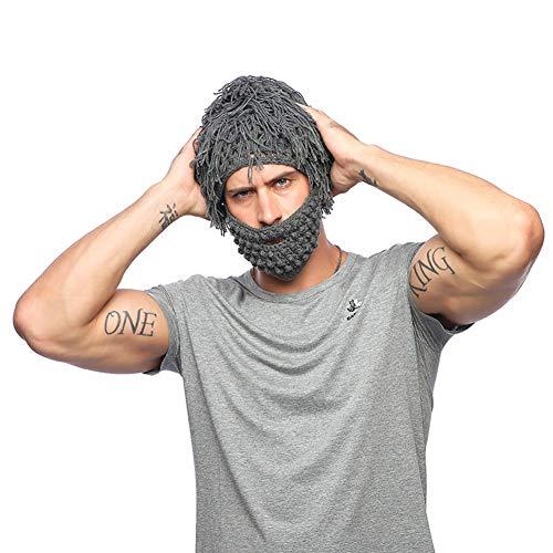 pittospwer - Peluca de Hombre de Punto con Gorro de Barba en ...