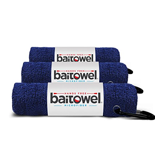 Hands Free Microfiber Bait Towel (Navy Blue)(3 Pack)