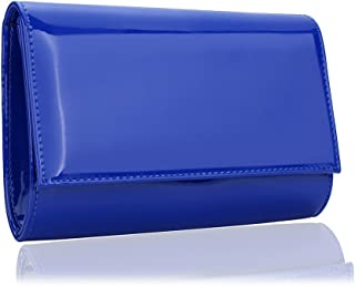 aabcae4072 Women Patent Leather Wallets Fashion Clutch Purses,WALLYN'S Evening Bag  Handbag Solid Color