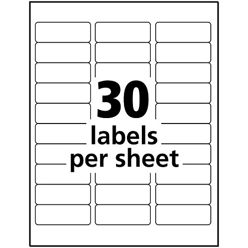 """Avery Return Address Labels for Laser Printers, 1"""" x 2-5/8"""", 750 Glossy White Labels (6526) Photo #5"""