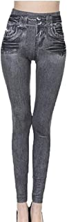 Howme-Women Skinny Empire Waist Solid Jeans Beam Foot Trousers