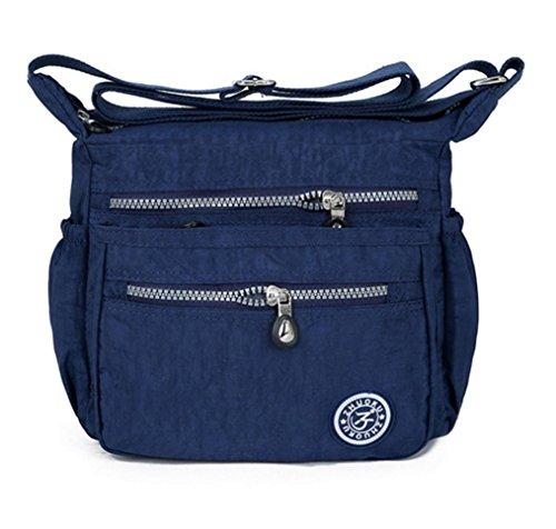 ALIKEEY La bolsa de asas azul azul oscuro