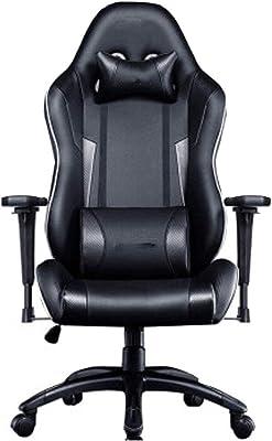 ゲーミングチェア調節可能なハイバックオフィスチェア、ゲーミングチェア人間工学に基づいた椅子ウエストリリーフスポーツチェア通気性のある