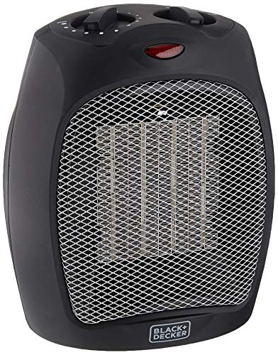Black + Decker BHDC500B46 Compact,Personal Black Ceramic Desktop Heater with Safety Protection