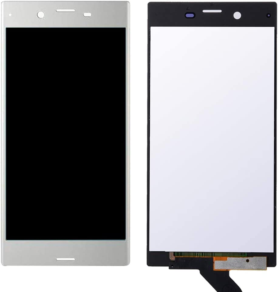 Black Color : Silver Touch Panel for Sony Xperia XZ LIYUNSHU LCD Screen