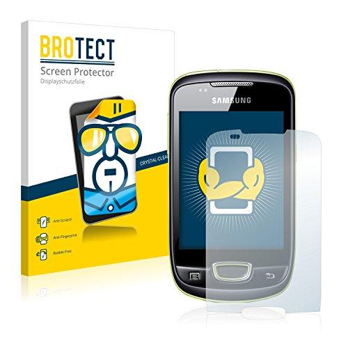 brotect Pellicola Protettiva Compatibile con Samsung Galaxy Next Turbo S5570i Pellicola Trasparente (2 Pezzi) Anti-Impronte
