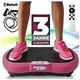 [page_title]-Miweba Sports Fitness 2D Vibrationsplatte MV100-3 Jahre Garantie - 3 multidimensionale Vibrationszonen - Oszillierend - 250 Watt (Weiß)