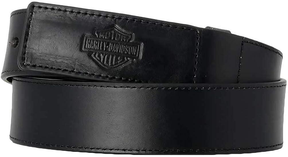 Harley-Davidson Men's Tool Master Bar & Shield Genuine Leather Belt - Black