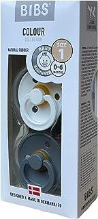 BIBS Baby Pacifier - BPA-free Natural Rubber - Smoke - White