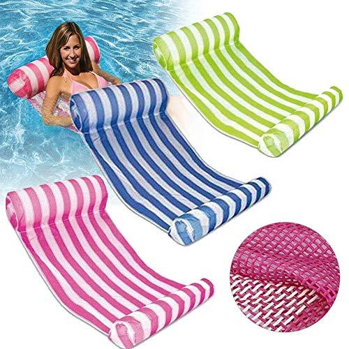 ReTink - Hamaca flotante inflable de agua flotante, multiusos, portátil, para piscina, tumbona flotante cómoda