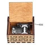 Wal front Caja de Música de Manivela de Madera, Caja de Música, Caja de Música de Madera, Grabada a Mano Vintage Regalo de Cumpleaños