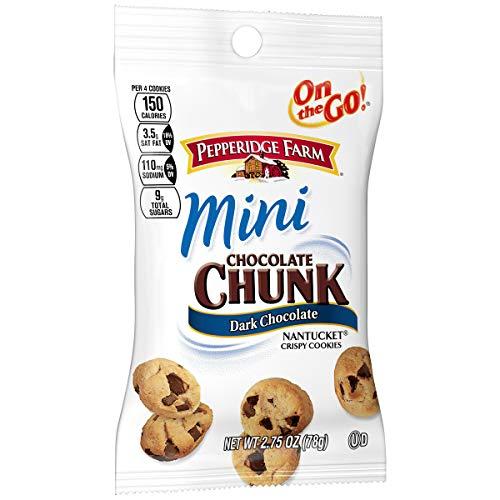 Pepperidge Farm Mini Chocolate Chunk Dark Chocolate Nantucket Cookies, 2.25 Ounce Snack Packs (Pack of 36)