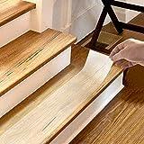 QWORK Ruban Adhésif Antidérapant pour marches d'escalier , transparent , anti glissant bande pour enfants, personnes âgées et animaux de compagnie , ruban d'escalier / plancher , 10cm x 5m