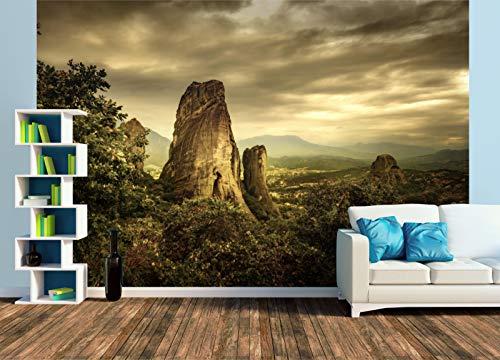 Premium Foto-Tapete Meteora Felsen Griechenland (versch. Größen) (Size XL | 465 x 310 cm) Design-Tapete, Wand-Tapete, Wand-Dekoration, Photo-Tapete, Markenqualität von ERFURT