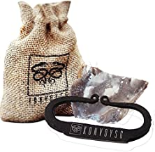 KonvoySG Flint and a Steel Striker Made From Carbon Steel Traditional Hand Forged Fire Starter Comes With English Flint Stone and Emergency Tinder Jute Carry Bag