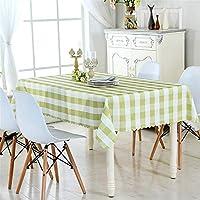 グレーのリネンの長方形のテーブルクロス、抗菌グリッドジャカード滑り止めおよびしわ防止ピアノのほこりの布キッチン、ダイニングルーム、中庭、バー、カフェ、パーティー、ピクニックの家の装飾 (Color : Style-4, Size : 60×60)