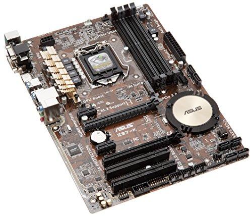 Asus Z97-K Mainboard Sockel 1150 (ATX, Intel Z97, 4x DDR3-Ram, PCIe 3.0 x16, 6x SATA)