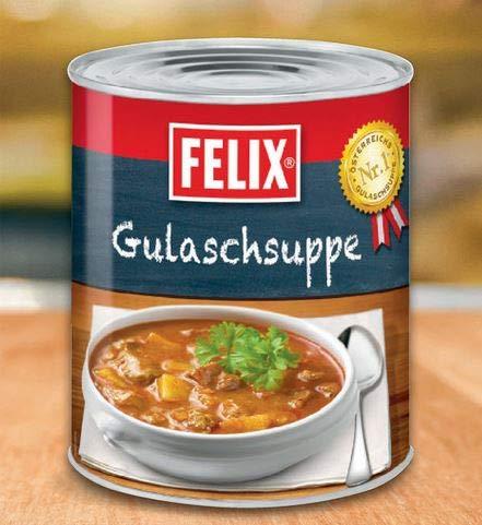 Felix Gulaschsuppe, mit saftigem Rindfleisch 2900 g