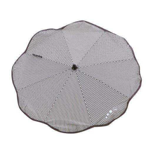 Gesslein 805201000 Sonnenschirm, Universalhalterung, Rund oder Ovalrohr, schwarz/weiß streifen