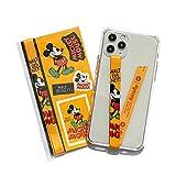 【ハイループ フォンストラップ Highloop】スマホケース ハンドストラップ フィンガーストラップ 落下防止 ワイヤレス充電対応 phonestrap (Disney) (ミッキーマウス 04)_D004