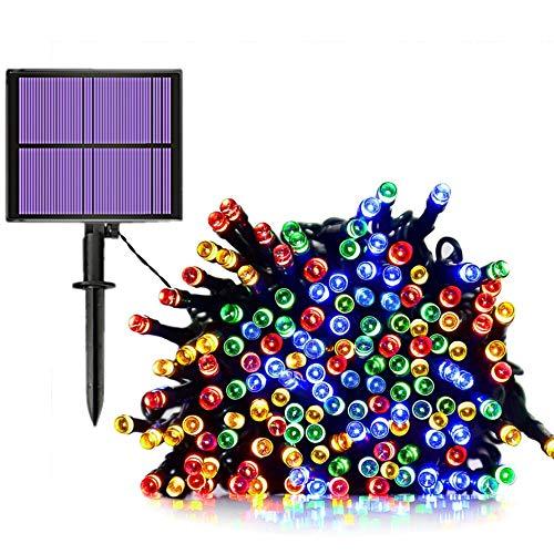 JZK 20m Impermeabile catena luminosa led solare da esterno interno fiore stringa lucine luci a LED colorate per decorazione giardino natale matrimonio