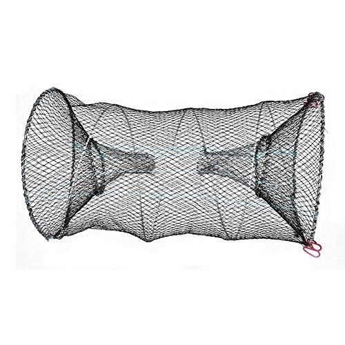 Tbest Faltbare Fischernetz, Gefaltet Angelnetz Tragbar Automatisch Köderfischreuse Krebs Fischfalle Zwergflußkrebs Shrimp Minnow Krabbe Köder Nettokäfig(25cm)