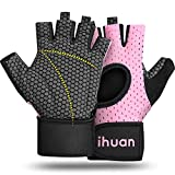 ihuan Updated 2019 Version Professional Ventilated Weight Lifting Gym Workout Gloves with Wrist Wrap Support Womens, Great for Weightlifting, Training, Exercise, Fitness, Hanging, Pull ups lifting gloves Oct, 2020