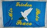 Flagge Fahne ca. 90x150 cm : Friedenstaube Flagge