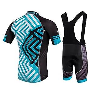 Cornasee Ropa Ciclismo Verano para Hombre Ciclismo Maillot y Culotte Pantalones Cortos
