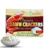 Prawn Chip Uncooked NO MSG ADDED 8oz By APEXY (White Color NO MSG ADDED . NO ARTIFICIAL COLOR ADDED)