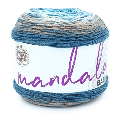 Lion Brand Yarn Company 526–204 Mandala babygarn, önskar bra, en nystan