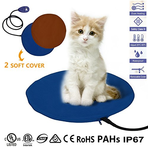 Pet Heating Pad, 12W Electric Cat Dog Heater Bed...