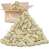grillas Pastillas de Encendido Ecológicas Enceradas | Encendedores de Barbacoa de Madera Natural | Pastillas de Lana de Leña para Chimeneas, Estufas, Fogatas, Ahumadores (5 kg (400 unidades))
