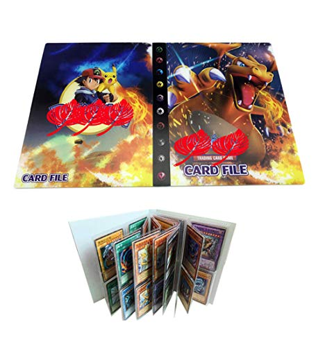 Trading Card Album Compatible with Pokemon Cards, Pokémon Card Holders, TCG Support Binder Trading Card Games, Holds 240 Cards(Charizard)