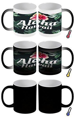 Zaubertasse Farbwechseltasse Kaffeebecher Tasse Becher Latte Cappuccino Espresso Welt Reise Hawaii Aloha