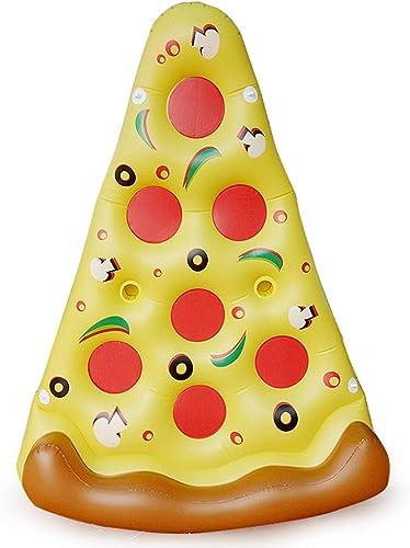 LUYION Pizza Flottant Ligne Gonflable Géant Lit Piscine Anneau Plage Jouet Piscine Flotteur été Coussin d'air Extérieur