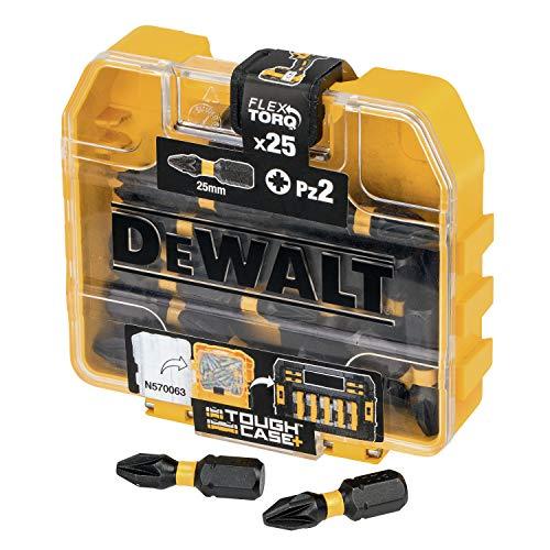 Dewalt DT70556T-QZ DT70556T-QZ-Juego de 25 Puntas Impact Torsion Pz2 25mm, Único