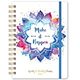 2021 Planner-Weekly & Monthly Planner 2021 with Back Pocket, 6.4'x 8.5', Jan 2021 - Dec 2021, Flexible Hardcover, Strong Twin-Wire Binding, Tabs,Thick Paper, Elastic Closure, Inspirational Quotes