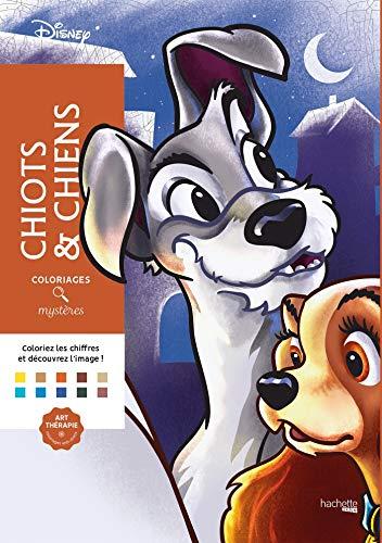 Coloriages mystères Disney Chiots et chiens: Coloriez les chiffres et découvrez les images !