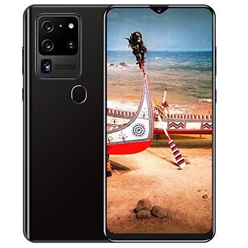 Dilwe1 Smartphone Sbloccato, Display HD da 6,8 Pollici, Telefono Cellulare Android10.0 con riconoscimento facciale Sbloccato, Doppia SIM, 2 GB di RAM + 32 GB, Doppia Fotocamera da 18 MP + 32 MP(Nero)
