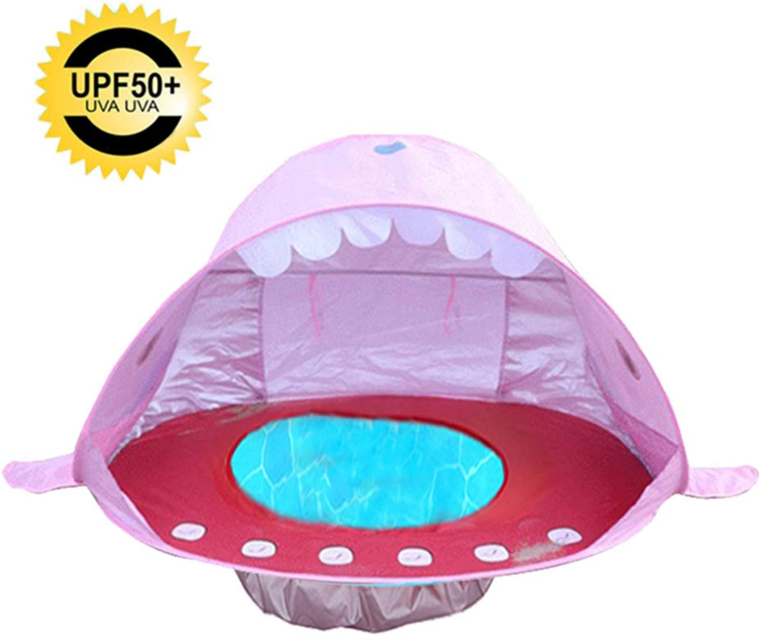 Baby Beach Tent, Shark Pool Tent Baby BathTravel Bed Portable Pop Up Beach Tent, UV Sun Predection with Storage Bag for Outdoor Beach Holiday