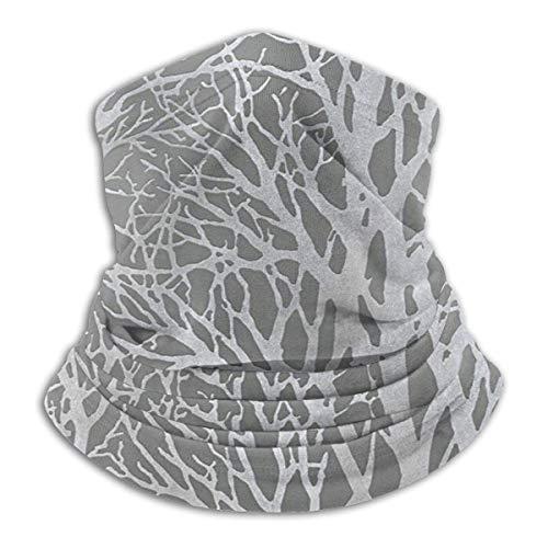Randy-Shop hals sjaal grijs bos hout boom behang hals Warmer gezicht Cover hals Gaiter sjaal