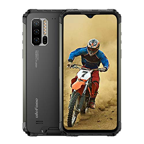 Ulefone Armor 7(2020) Rugged Cell Phones Unlocked, Rugged Phones Unlocked 4G Android 9.0 Helio P90 8GB +128GB, 48MP +16MP +8MP Camera, 6.3' FHD Dual Sim Smartphone 5500mAh, Wireless Charge, NFC