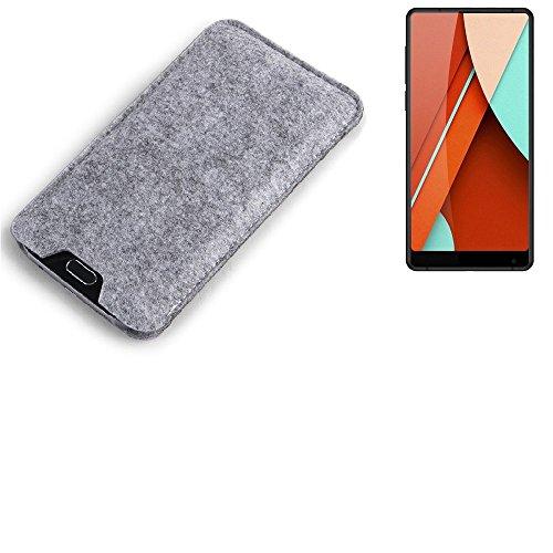 K-S-Trade para Bluboo D5 Pro Estuche protecto Case para móvil Fieltro sintió...